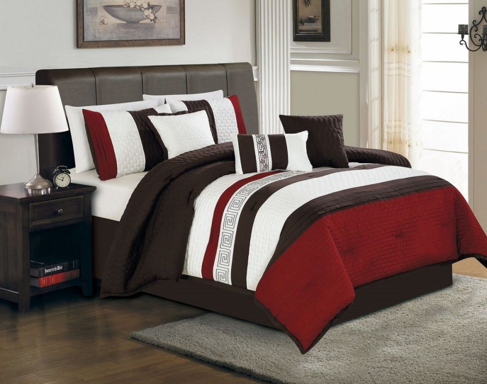 Red Black And White Comforter Set