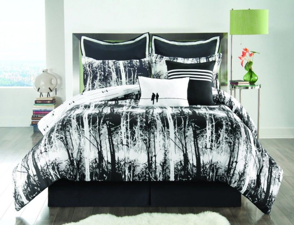 Red Black And White Comforter Sets