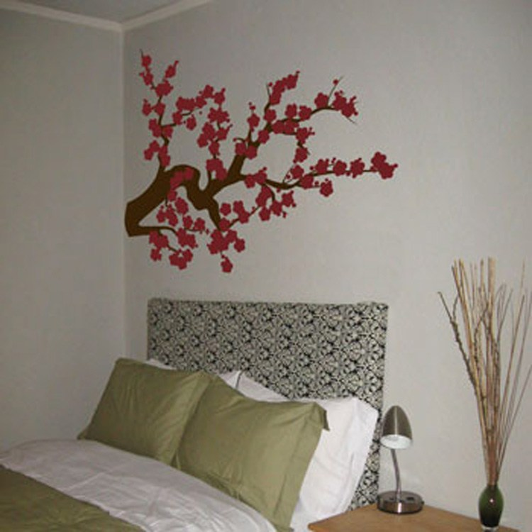 Red Cherry Blossom Wall Decal