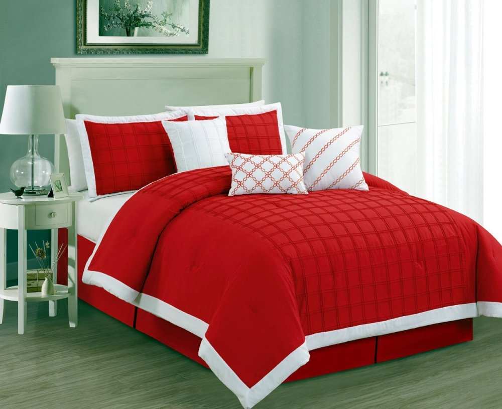 Red Comforter Set Queen