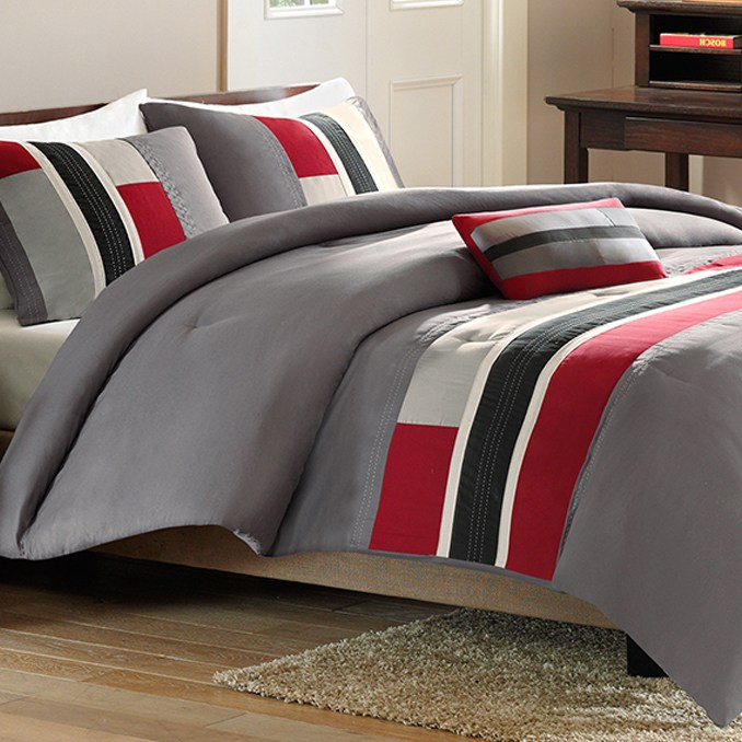 Red Comforter Set Twin