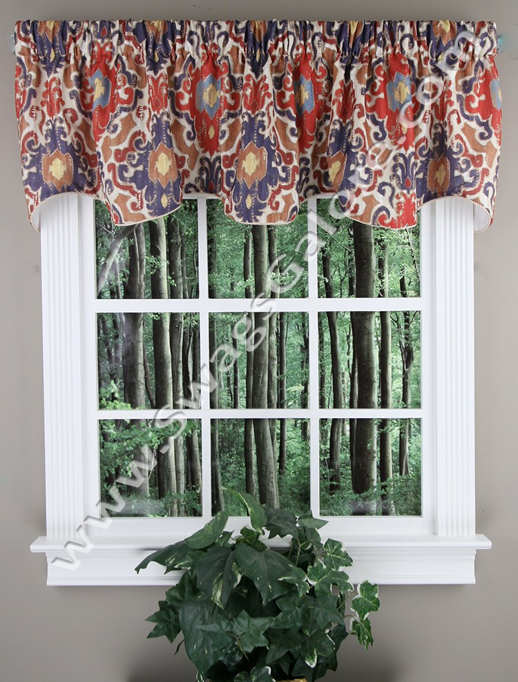 Red Kitchen Valance