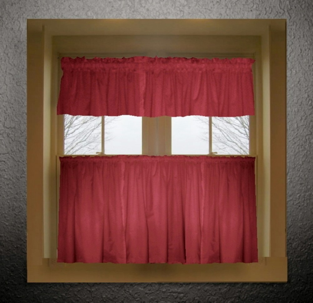 Red Kitchen Valances For Windows