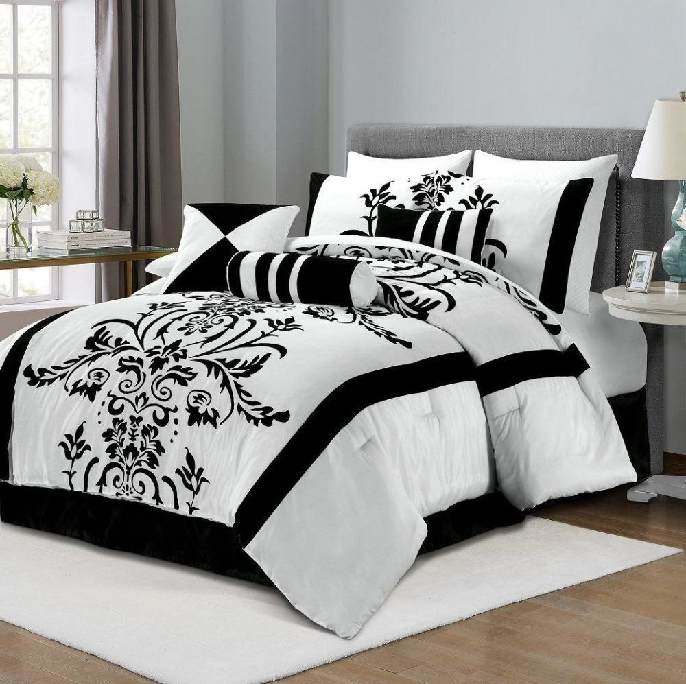 Red White And Black Comforter Sets