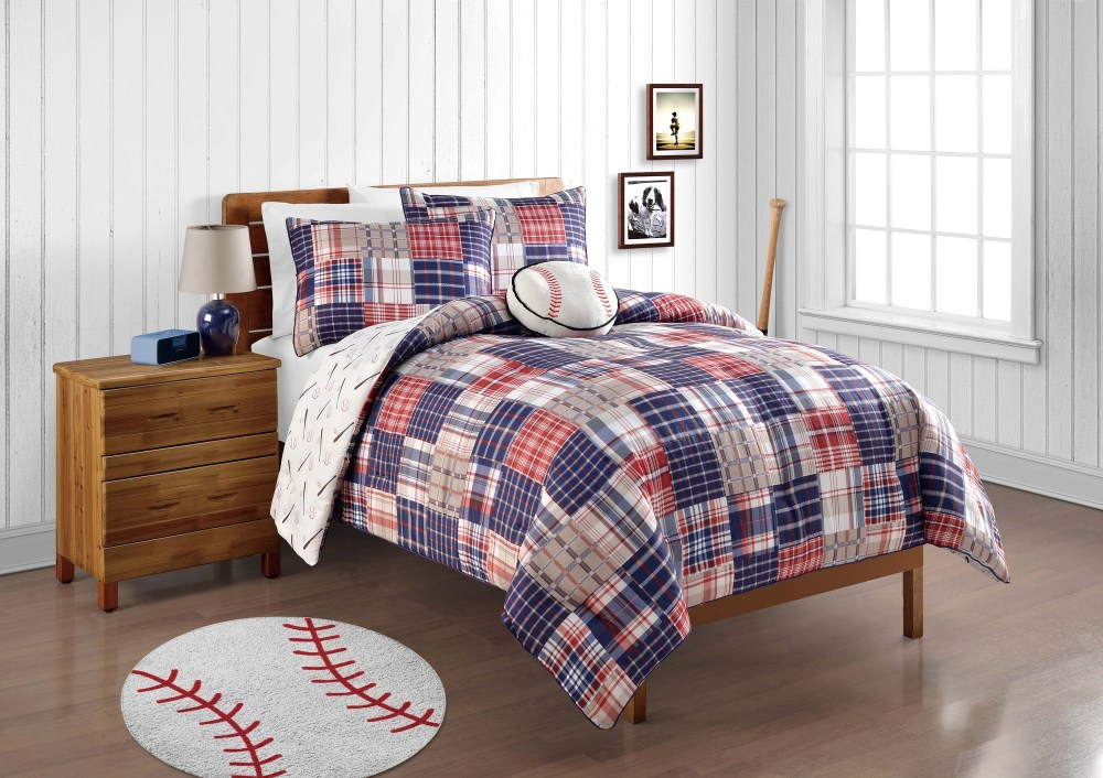Red White Blue Comforter Set