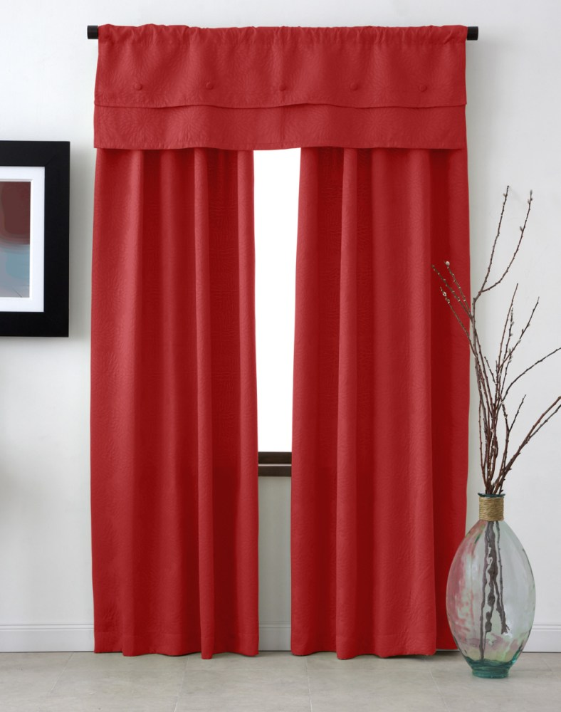 Red Window Valance