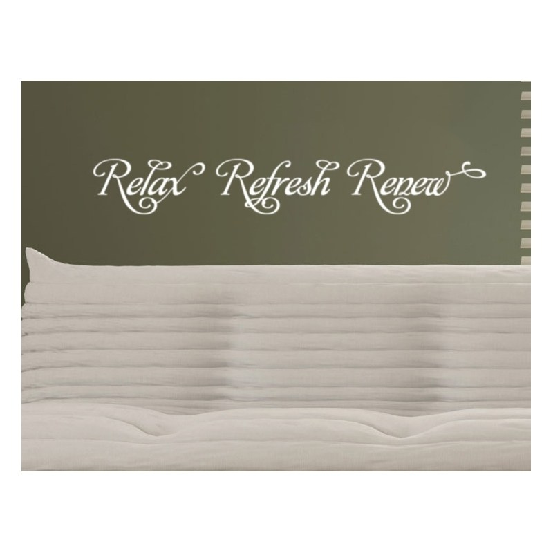 Relax Refresh Renew Wall Decal