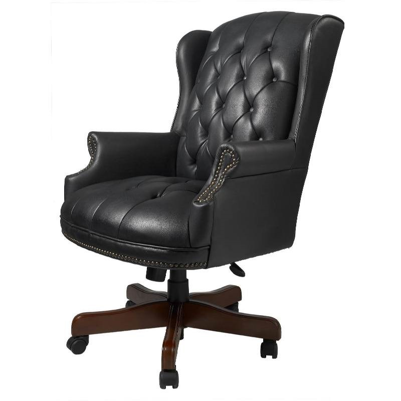 Retro Leather Office Chair