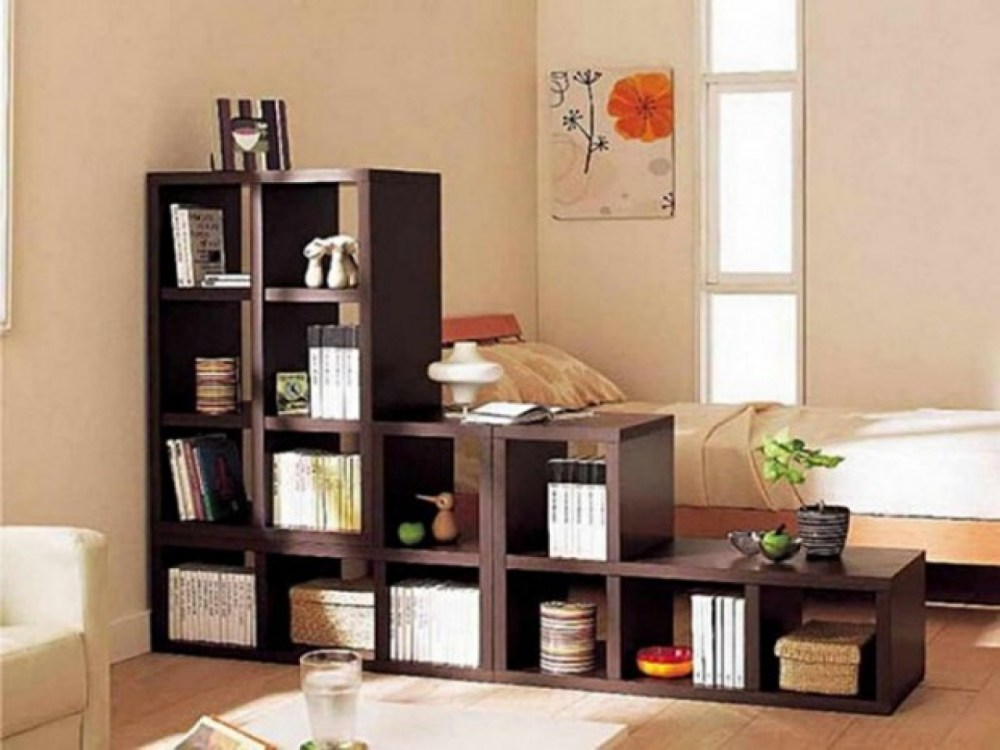 Room Divider With Shelves