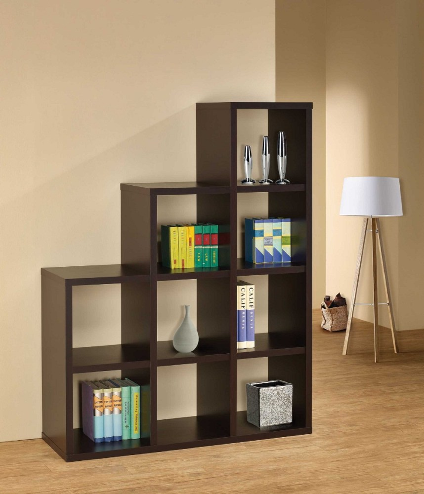 Room Divider Wood Shelves