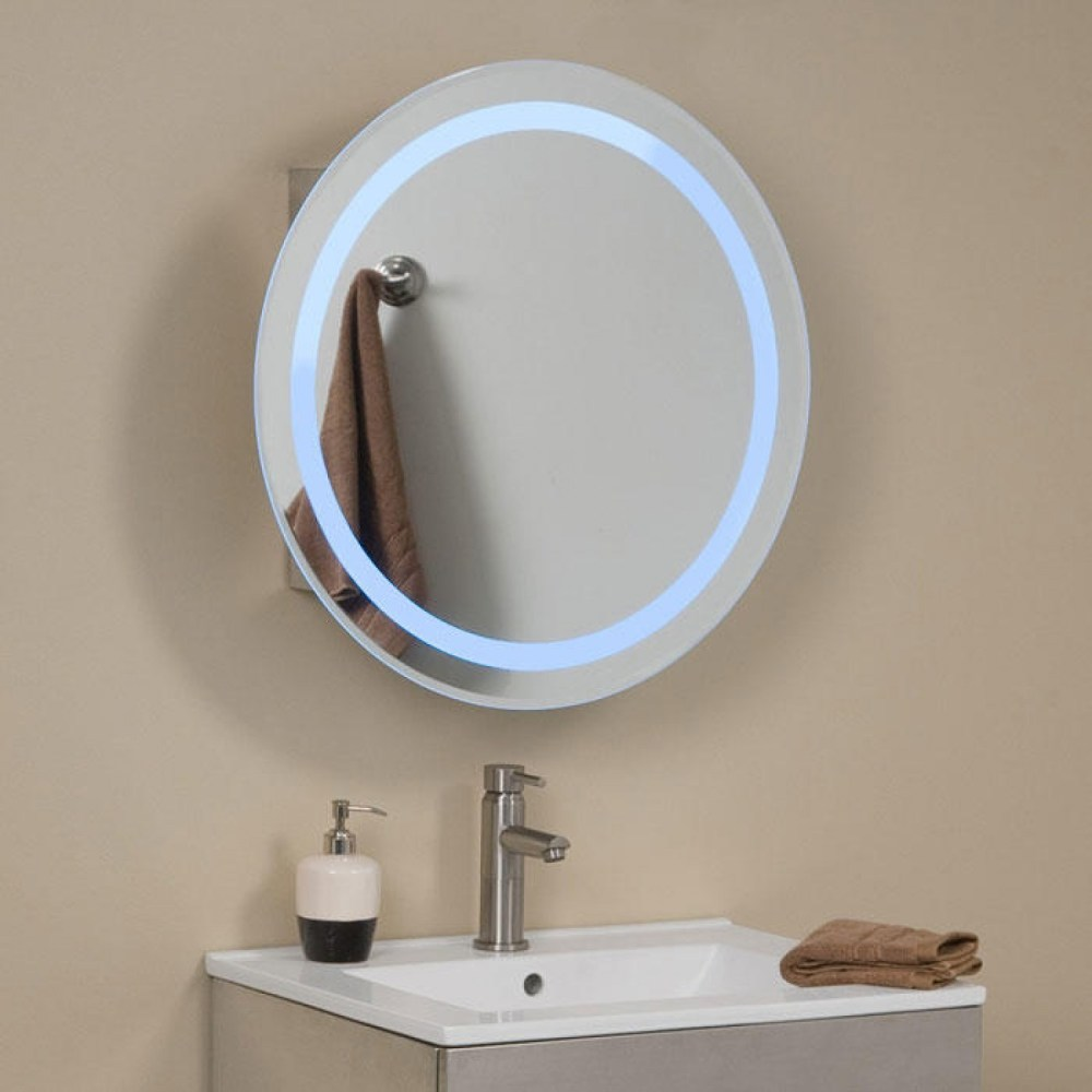 Round Bathroom Cabinet With Mirror