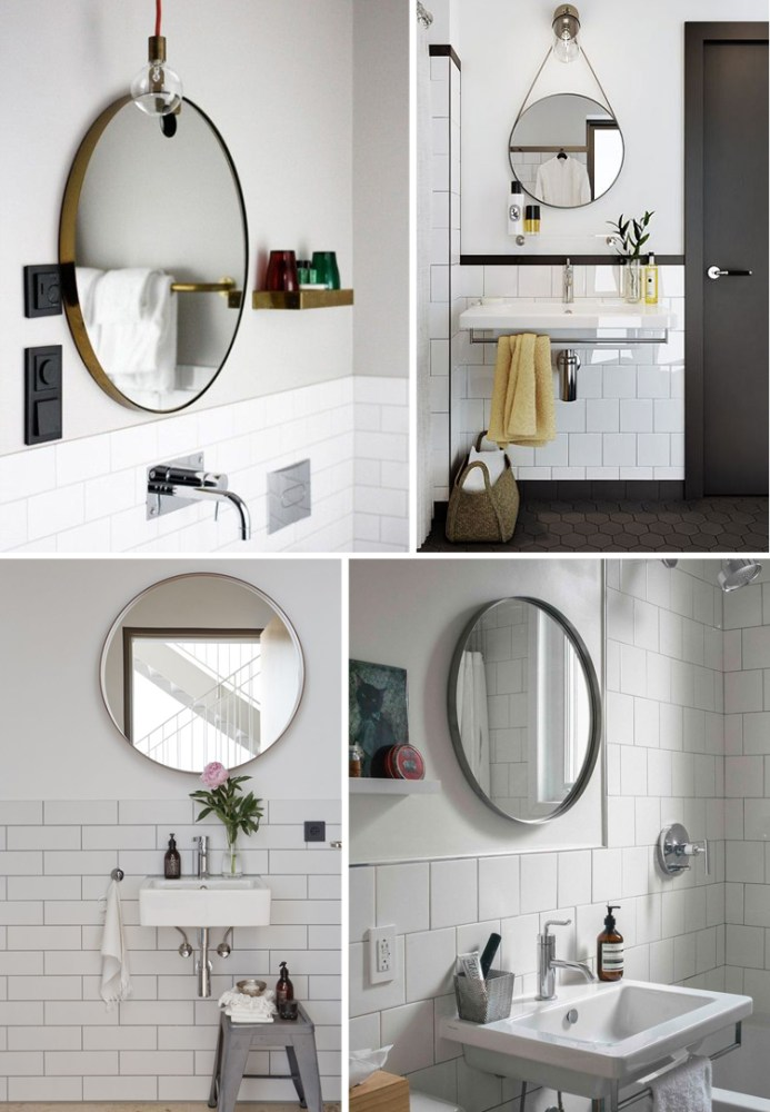 Round Mirror Bathroom Cabinet