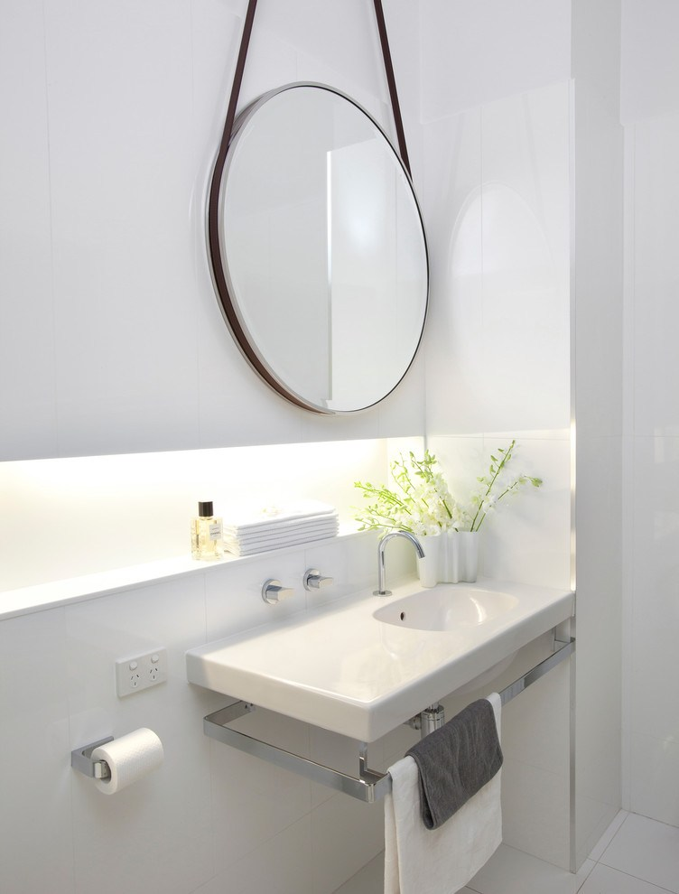 Round Mirror Bathroom Vanity