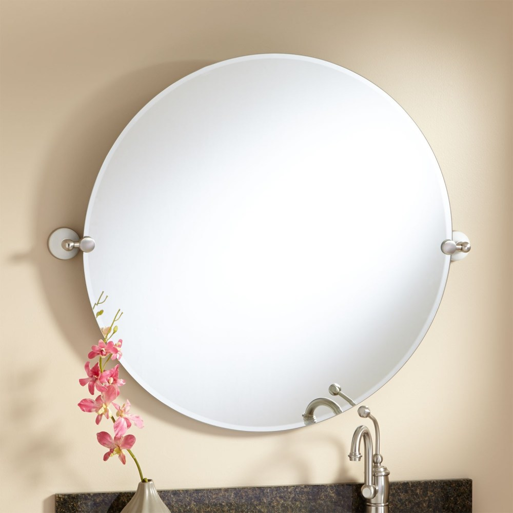 Round Tilting Bathroom Mirror