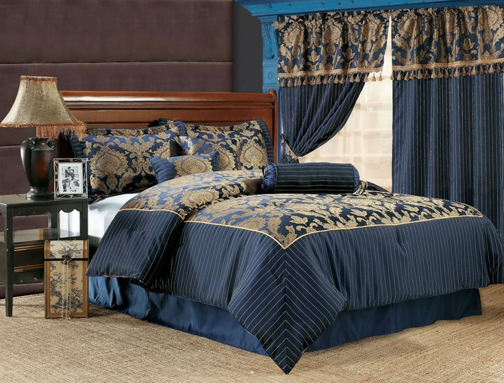 Royal Blue Comforter Set