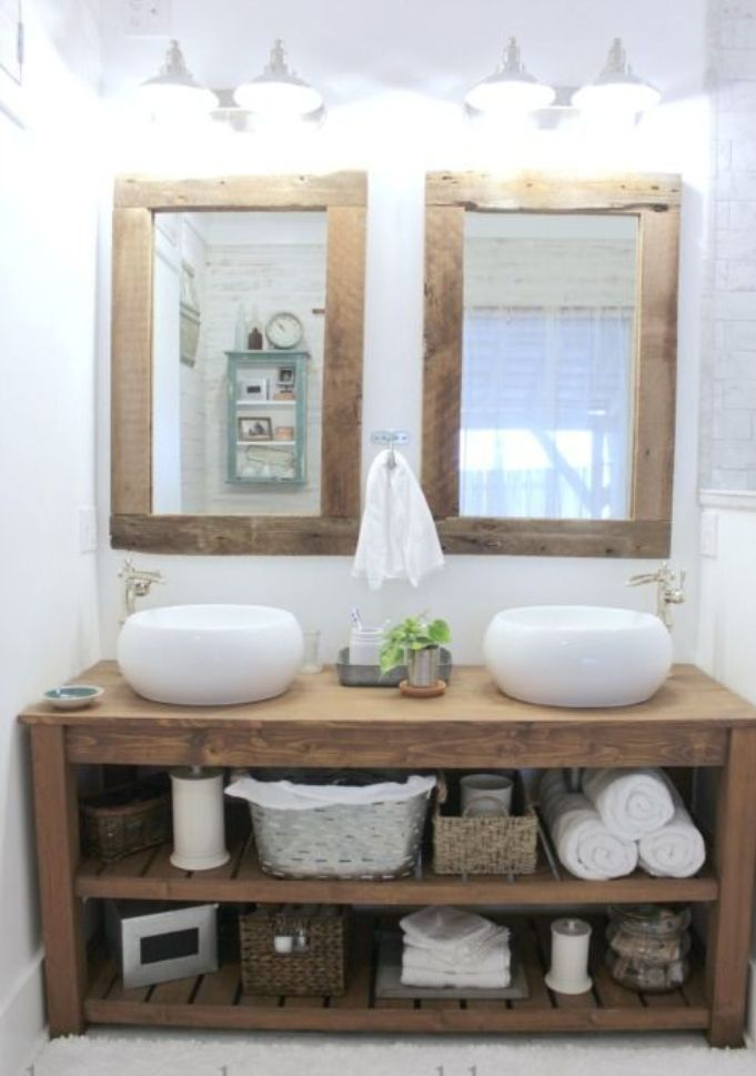 Rustic Bathroom Mirror Cabinet