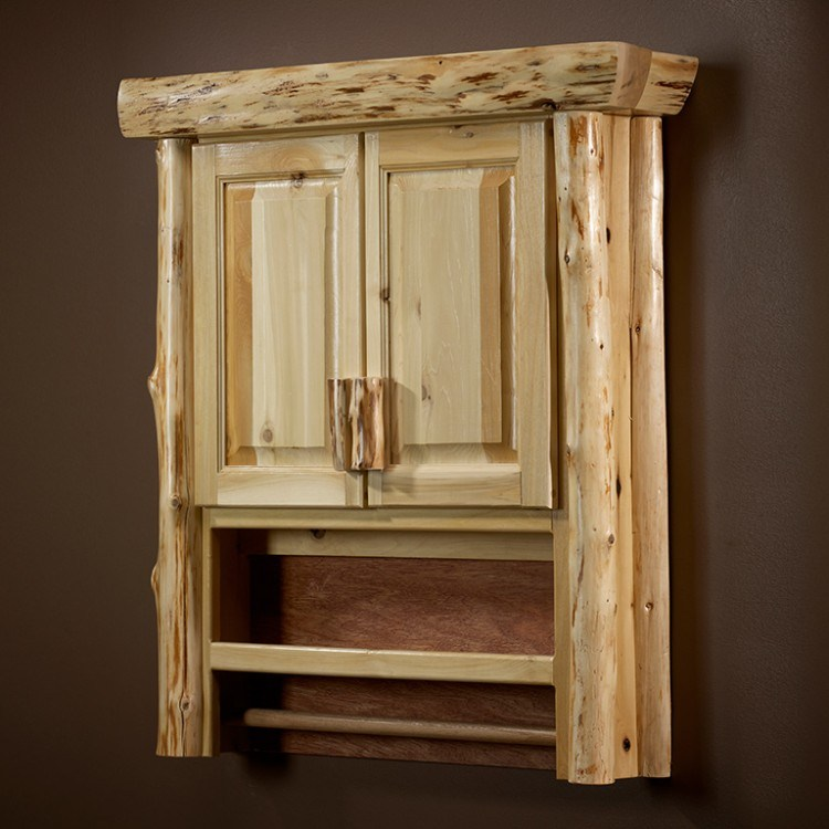 Rustic Bathroom Wall Cabinets