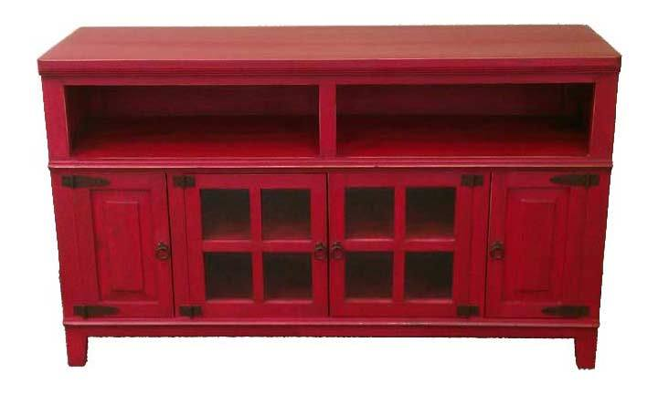 Rustic Red Tv Stand
