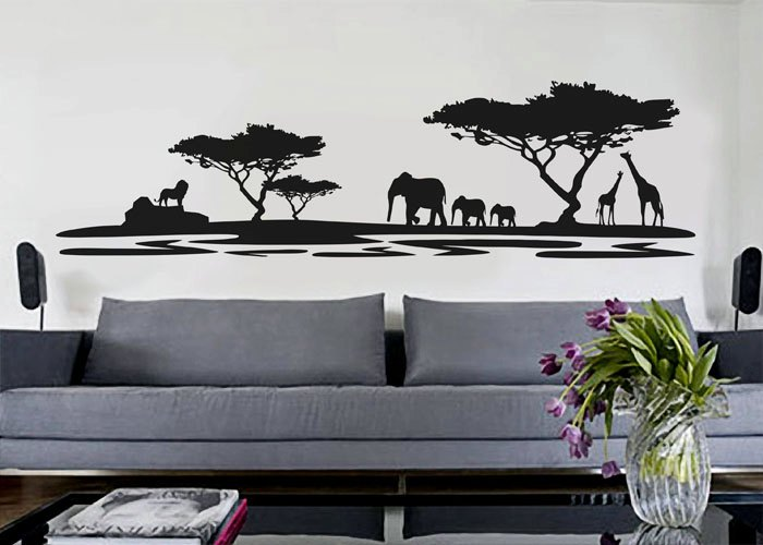 Safari Silhouette Wall Decals