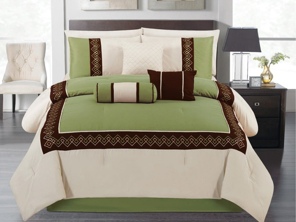 Sage Green And Brown Comforter Sets