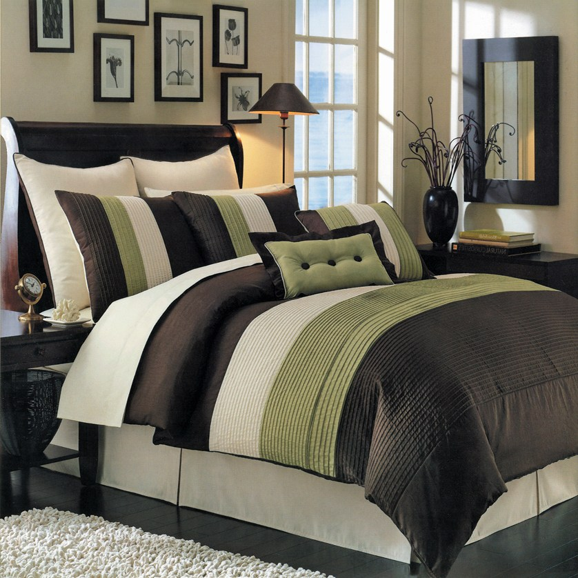 Sage Green Comforter Sets Queen