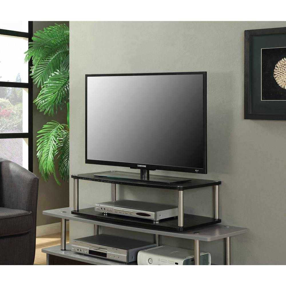 Sauder Black Tv Stand For Tvs With Bases Up To 39