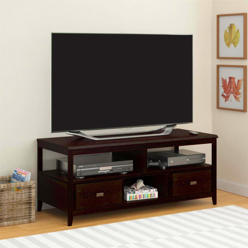 Sauder Milled Cherry Panel Tv Stand