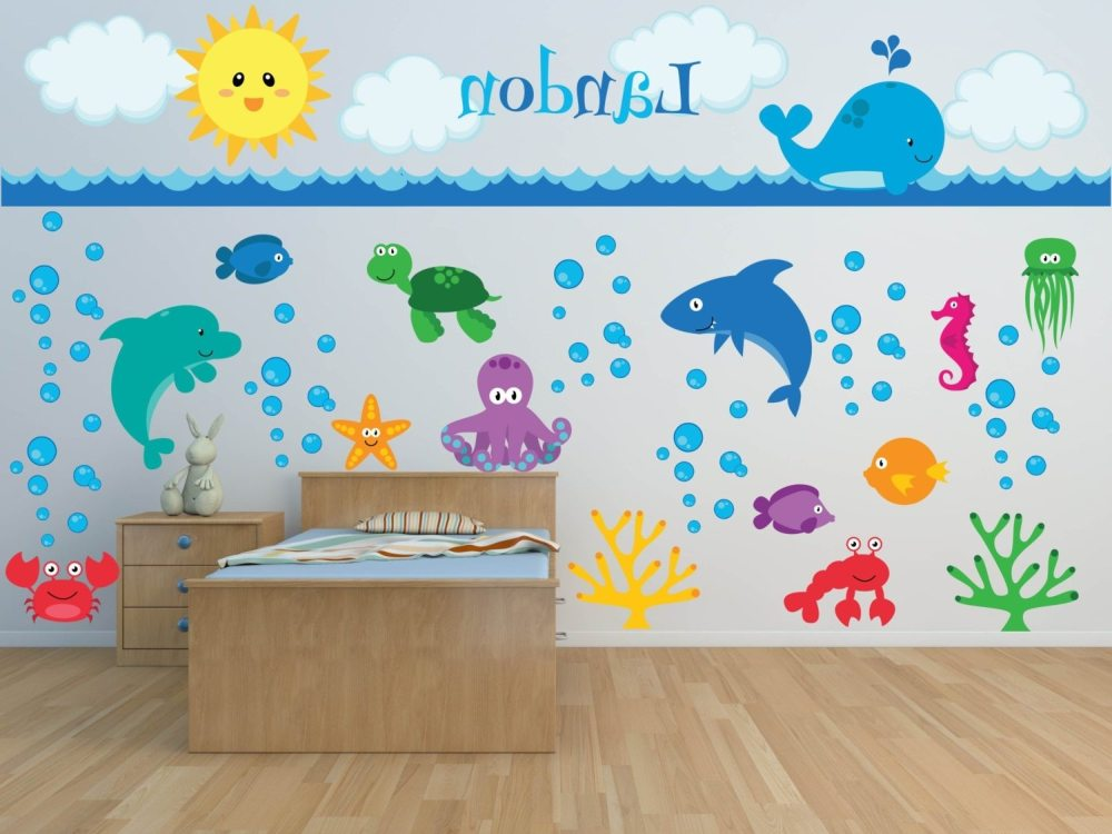 Sea Creatures Wall Decals