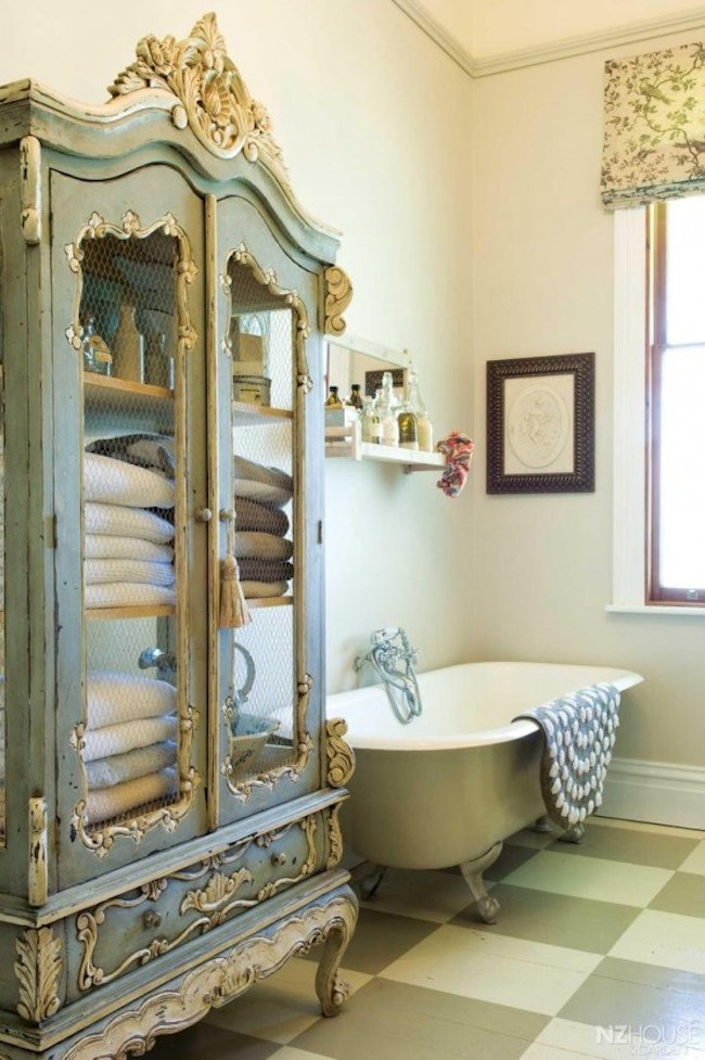 Shabby Chic Bathroom Cabinet Furniture