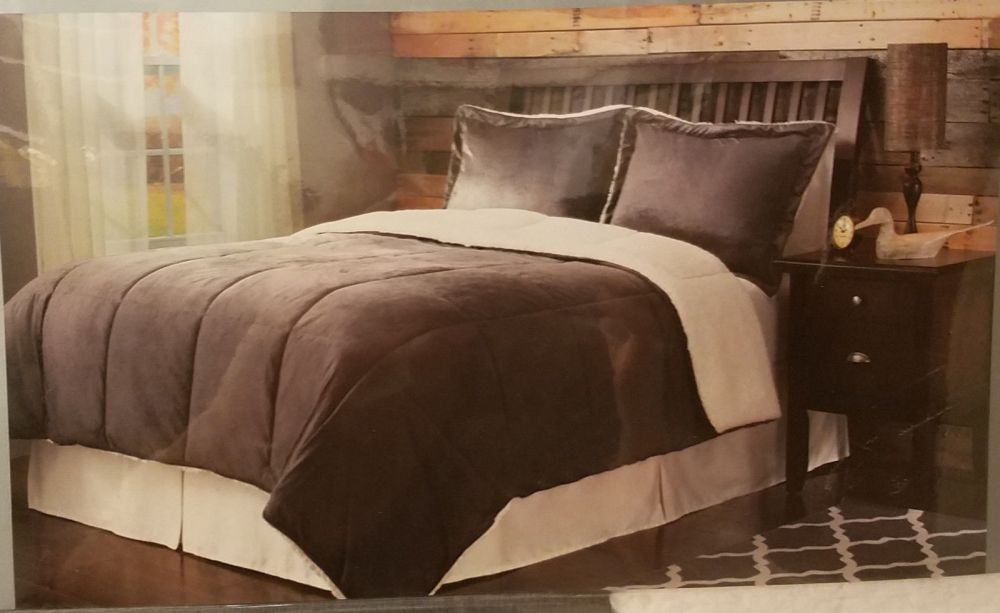 Sherpa Comforter Set Full