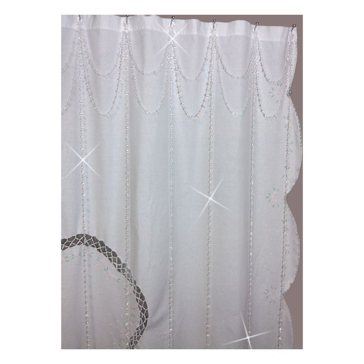 Shower Curtain With Valance Tie Back