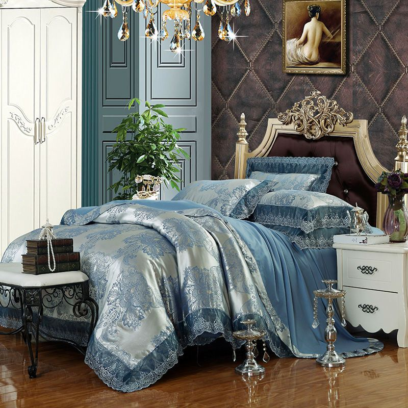 Silver And Blue Comforter Sets