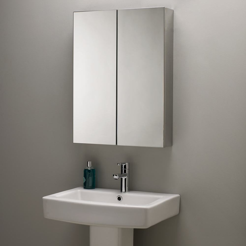 Silver Bathroom Cabinet Mirror