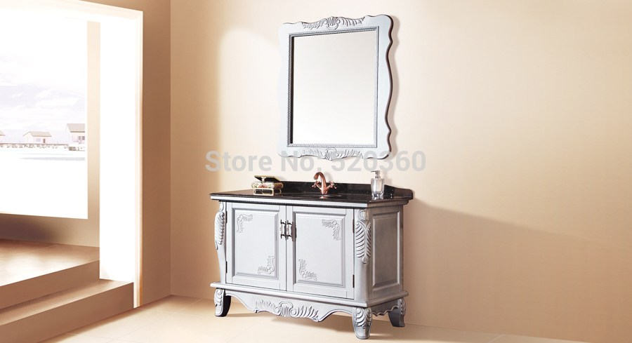 Silver Bathroom Cabinet