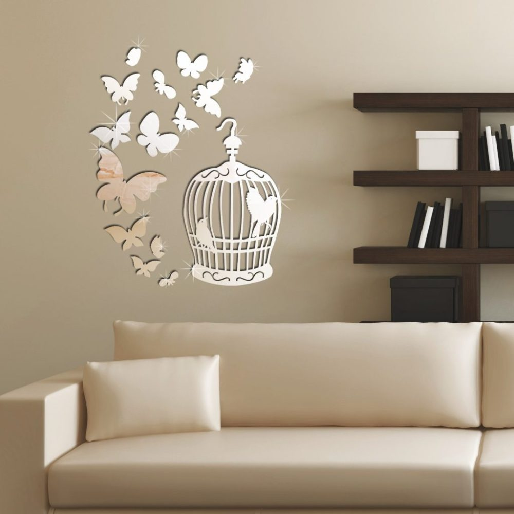 Silver Wall Decals Stickers