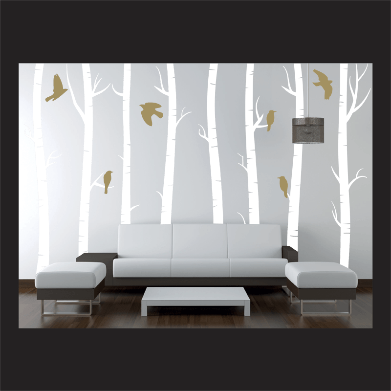 Silver Wall Decals Uk