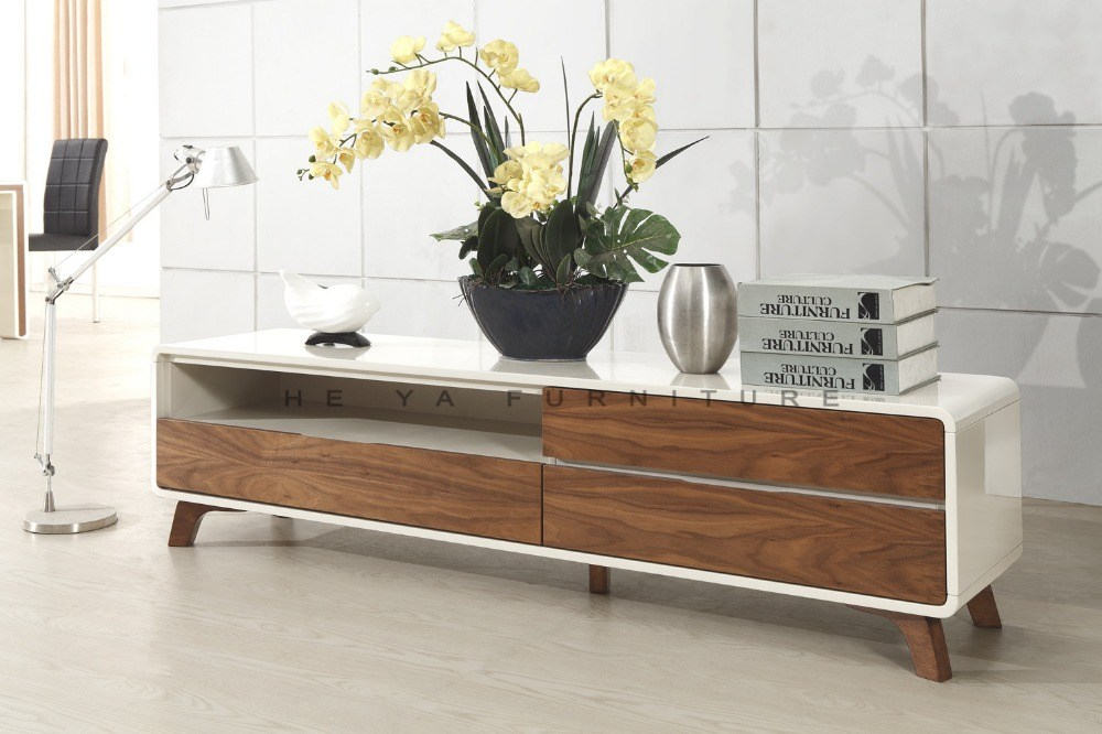 Simple Tv Stand With Showcase Designs For Living Room