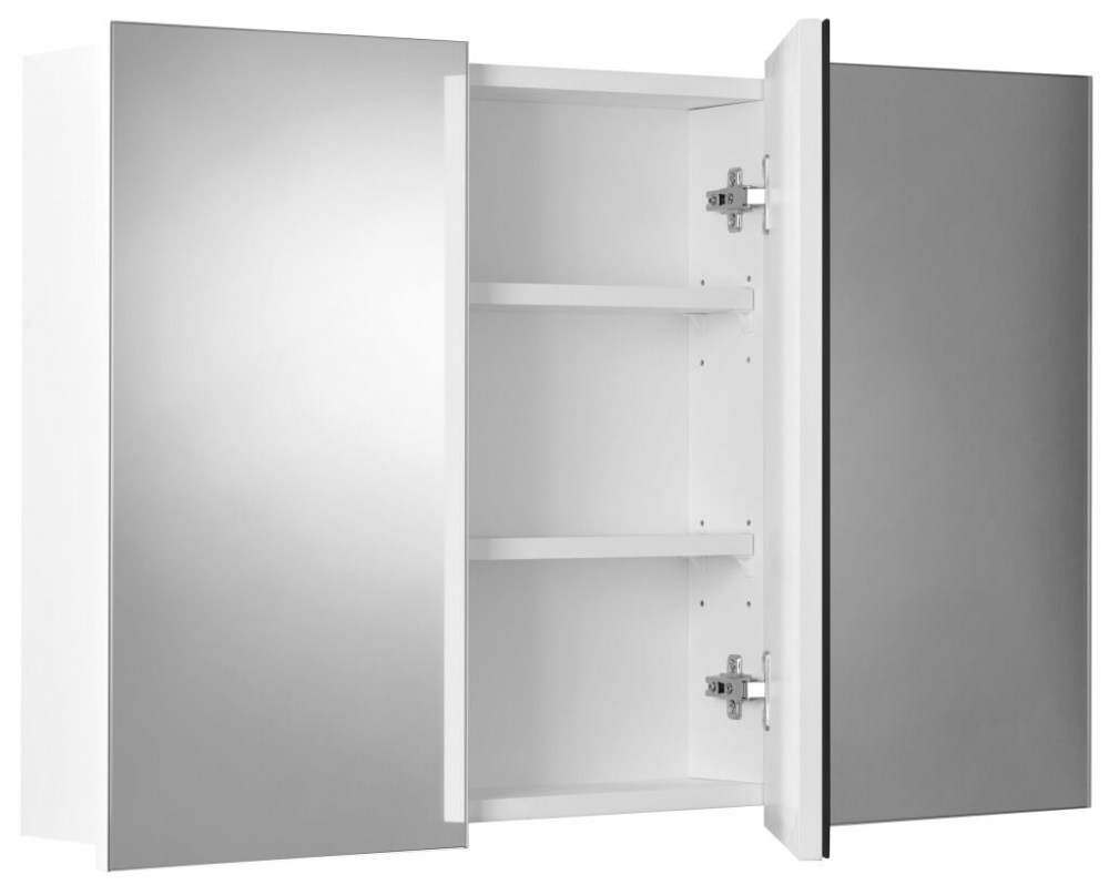 Slim Mirrored Bathroom Cabinet