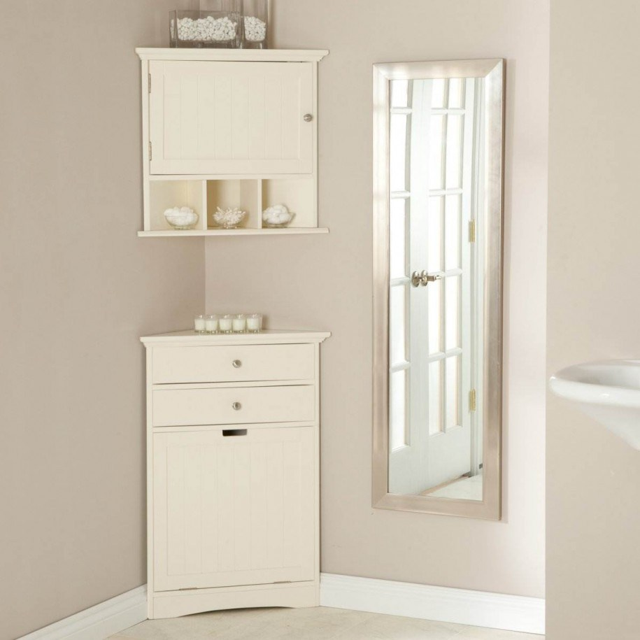 Small Corner Cabinet Bathroom