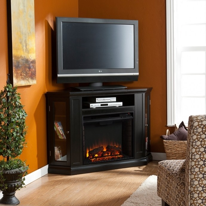 Small Corner Fireplace Tv Stand