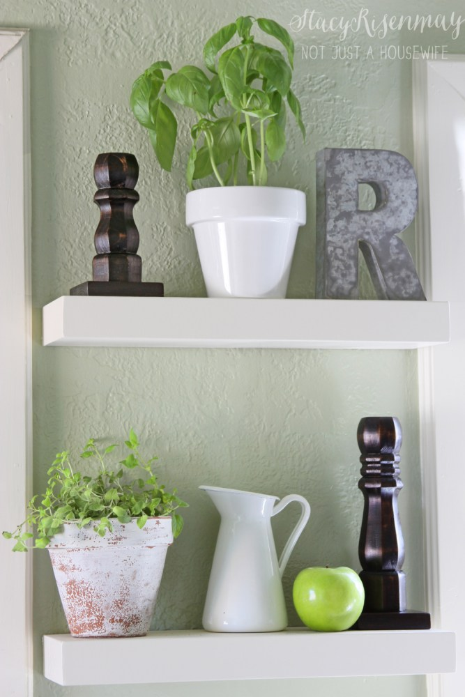 Small Corner Floating Shelves