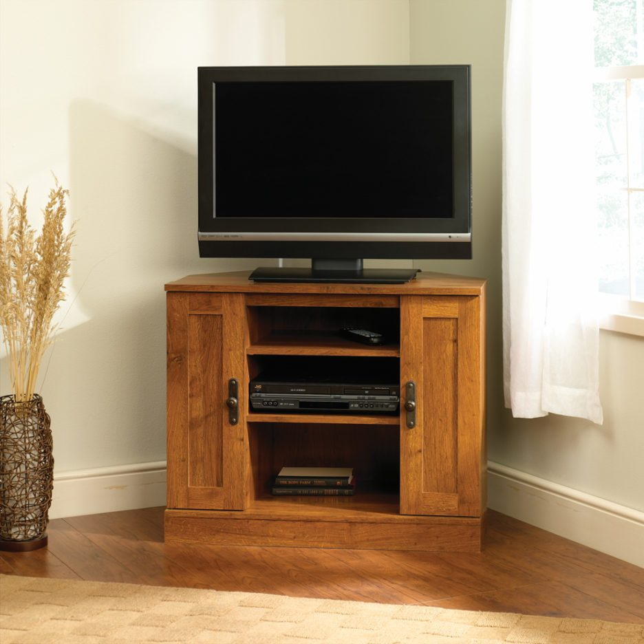 Small Corner Tv Stand Wood