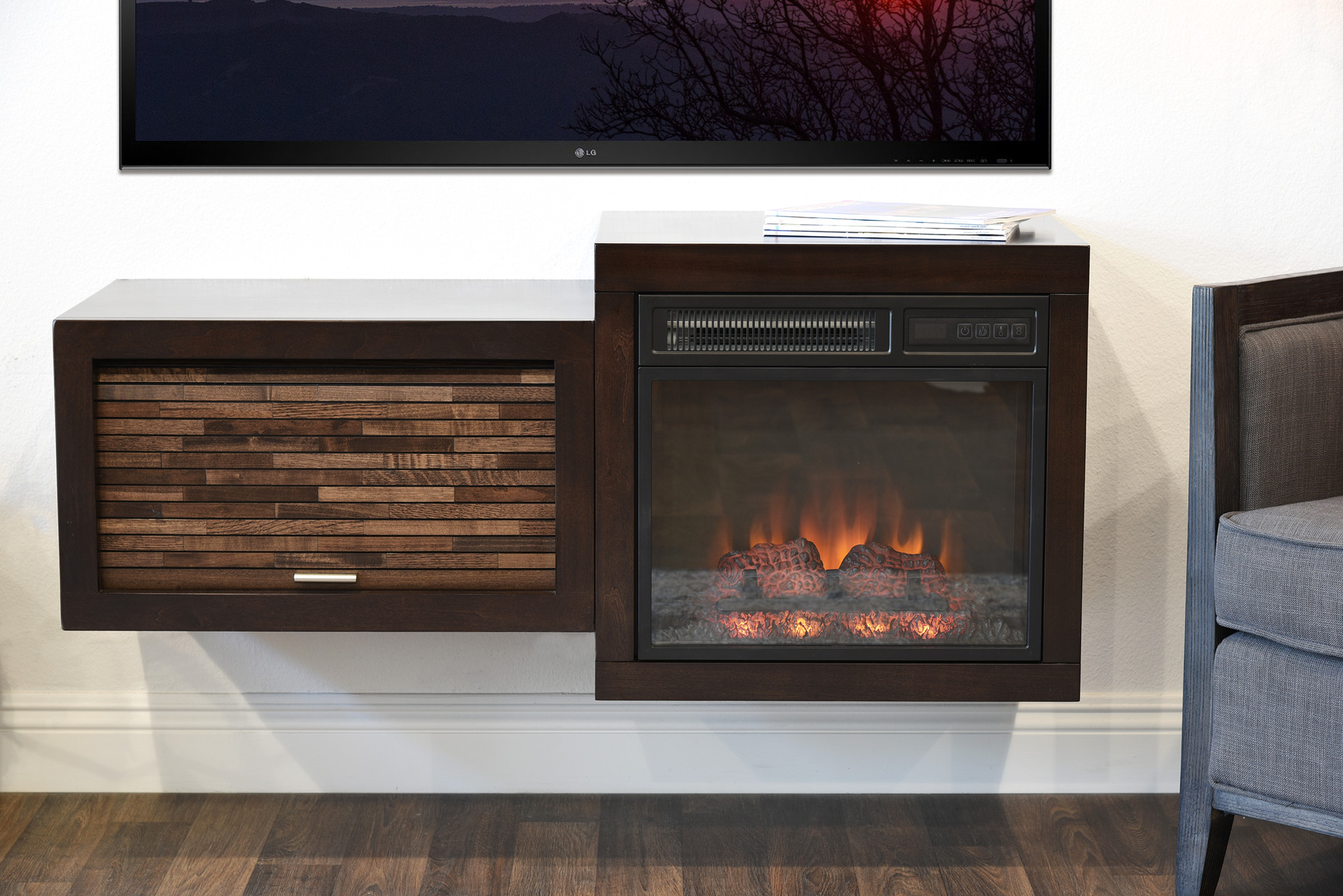 Small Tv Stand With Fireplace