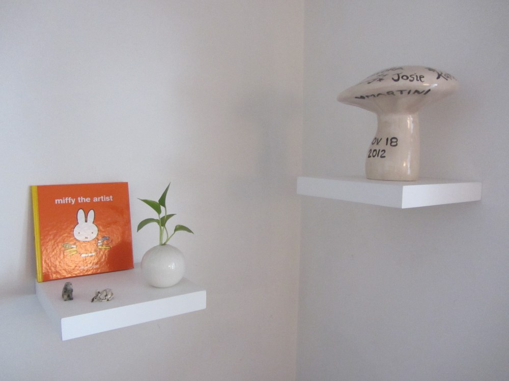 Small White Floating Shelves