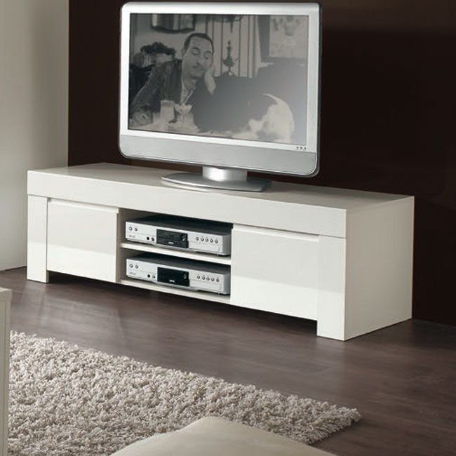 Small White Gloss Tv Stand