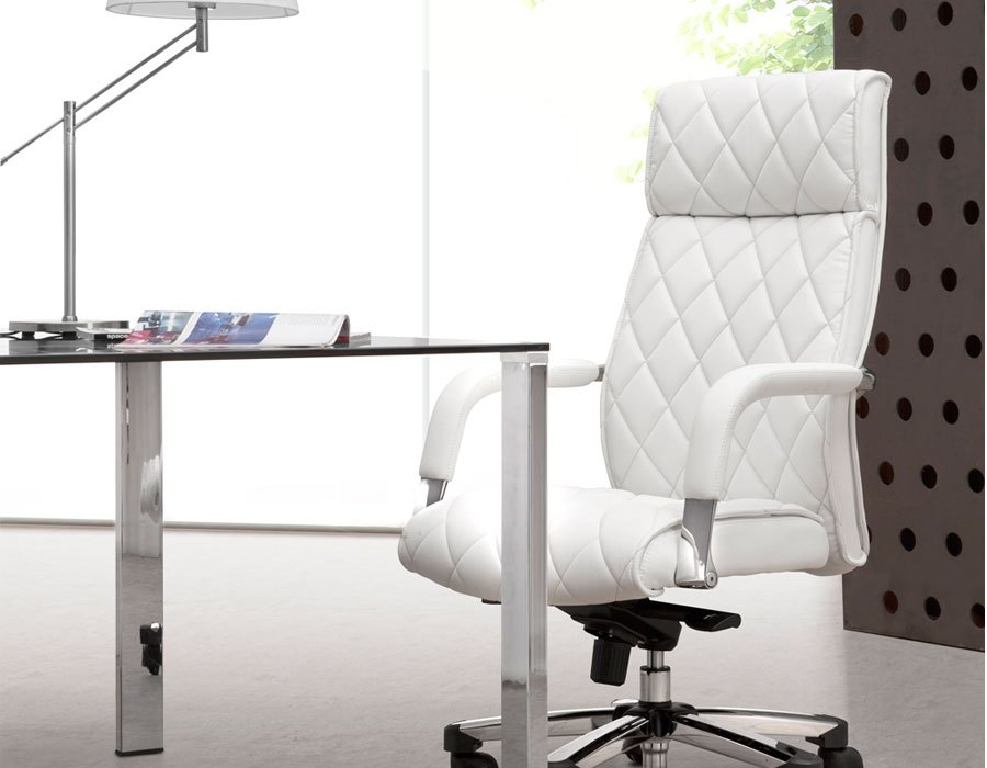 Small White Office Chair