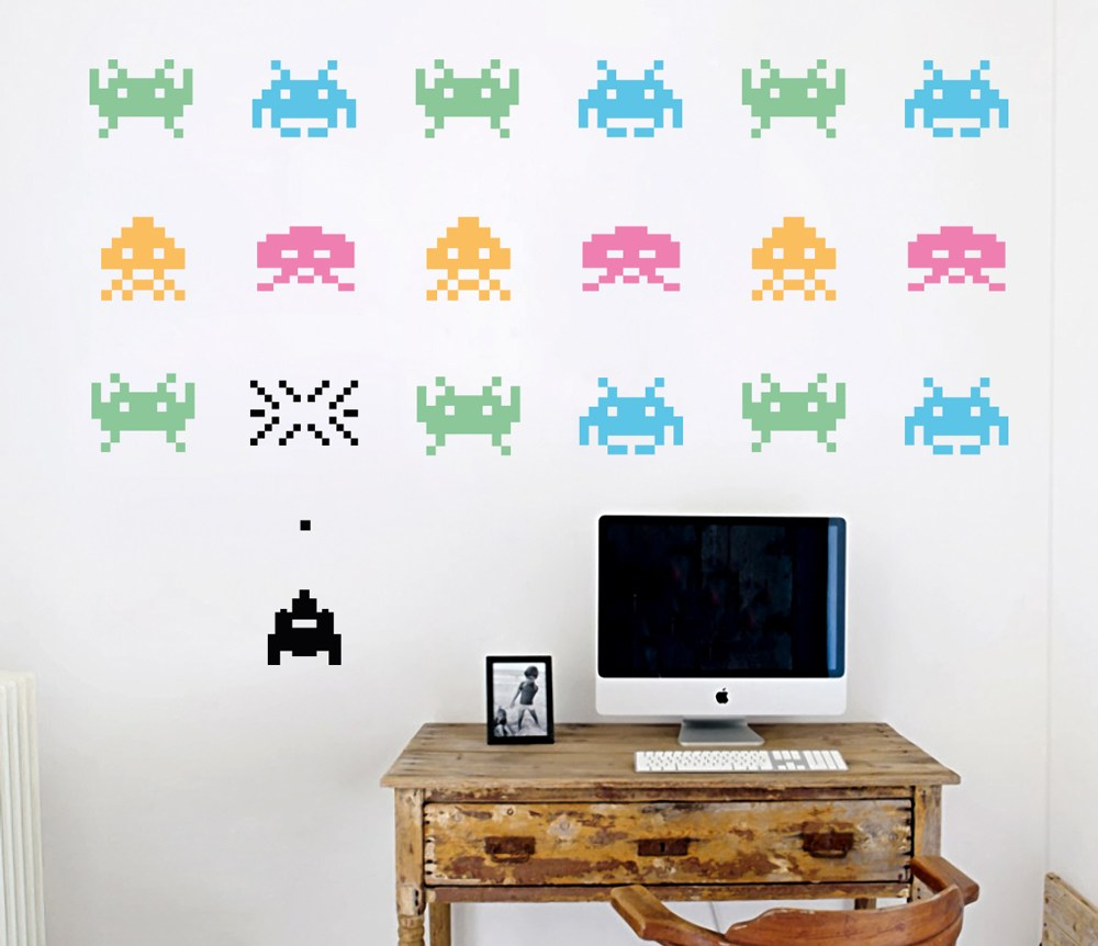 Space Invaders Wall Decals