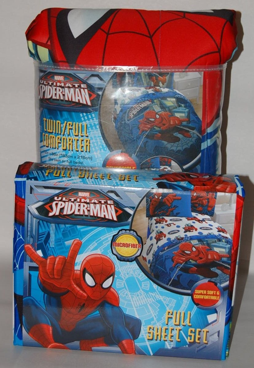 Spiderman Comforter Set Full Size