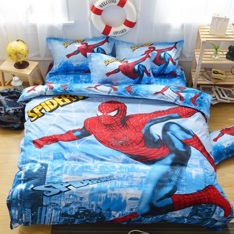 Spiderman Comforter Set Twin
