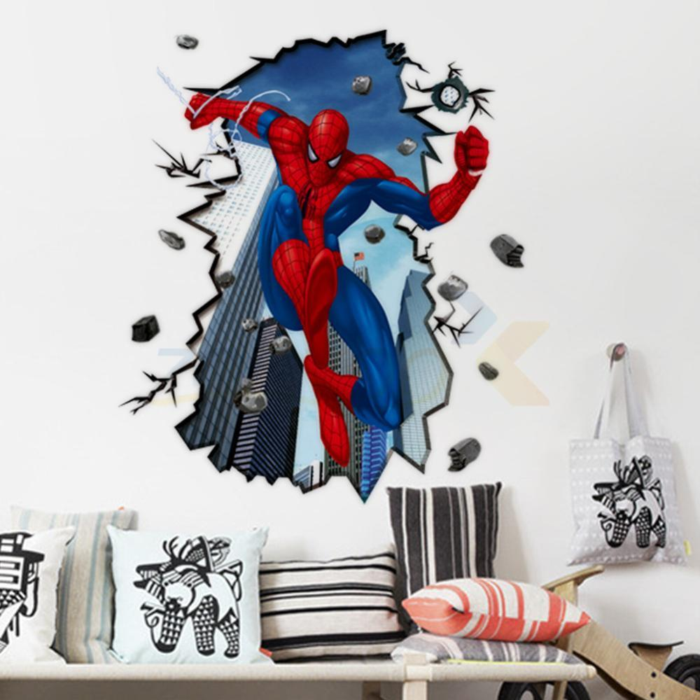 Spiderman Wall Decals For Kids Rooms